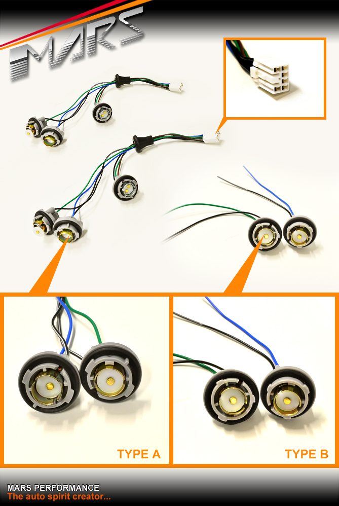 the harness being sold has the following bulb holders attached (refer to  picture above for type a)