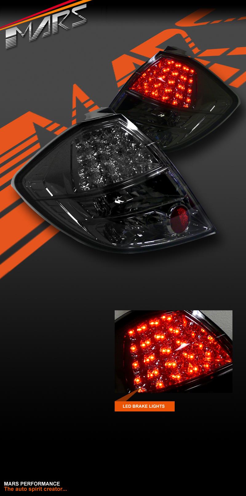 smoked black led tail lights for honda jazz fit ge 08 11. Black Bedroom Furniture Sets. Home Design Ideas