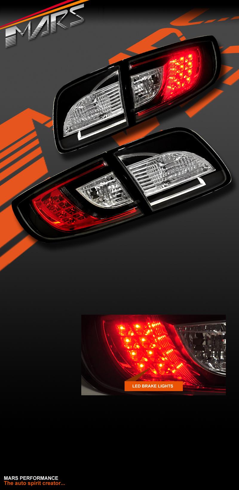 black led tail lights for mazda 3 sedan 03 09 taillight. Black Bedroom Furniture Sets. Home Design Ideas