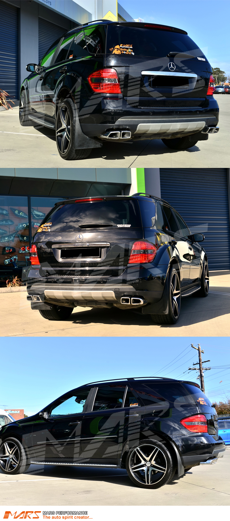 smoked red led tail lights for mercedes benz ml class w164 mars performance. Black Bedroom Furniture Sets. Home Design Ideas