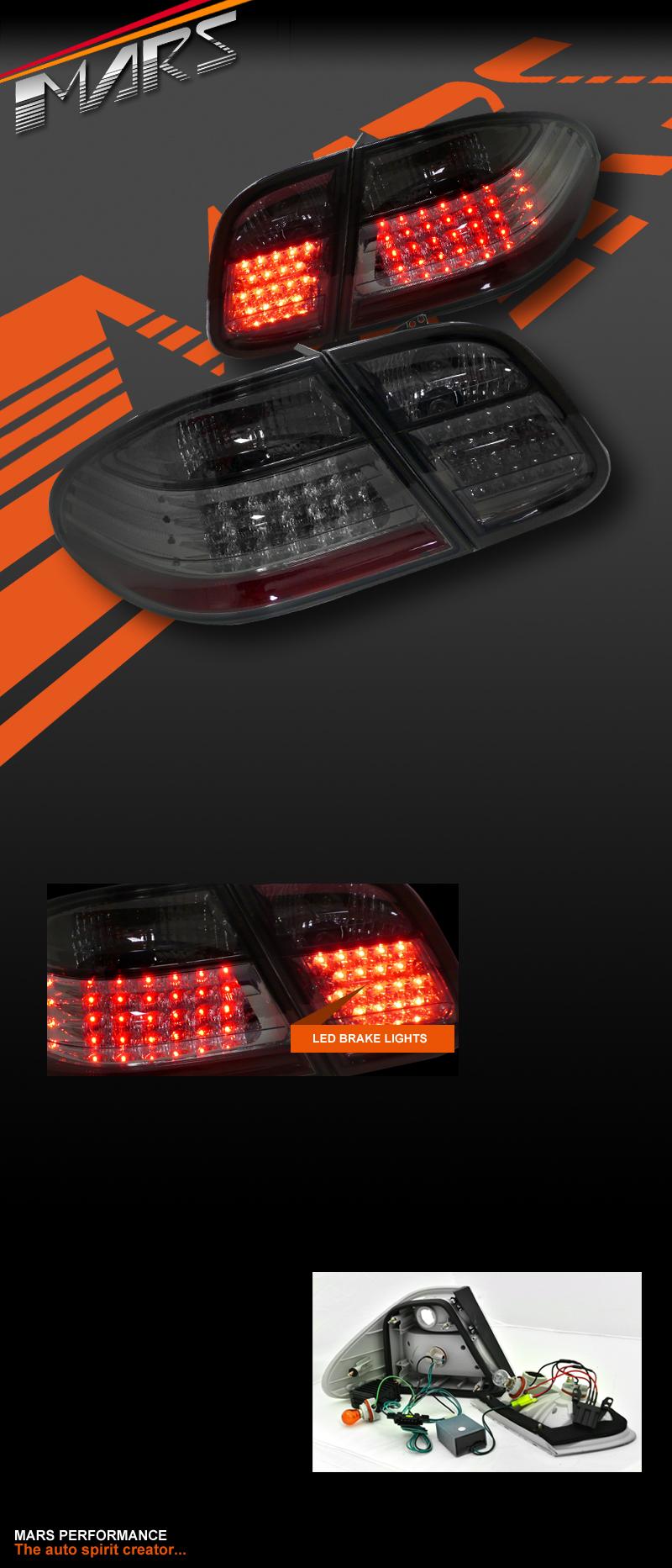 Smoked Led Tail Lights Mercedes Benz Clk W208 C208 Clk200 Clk230 Clk320 Clk430 Ebay
