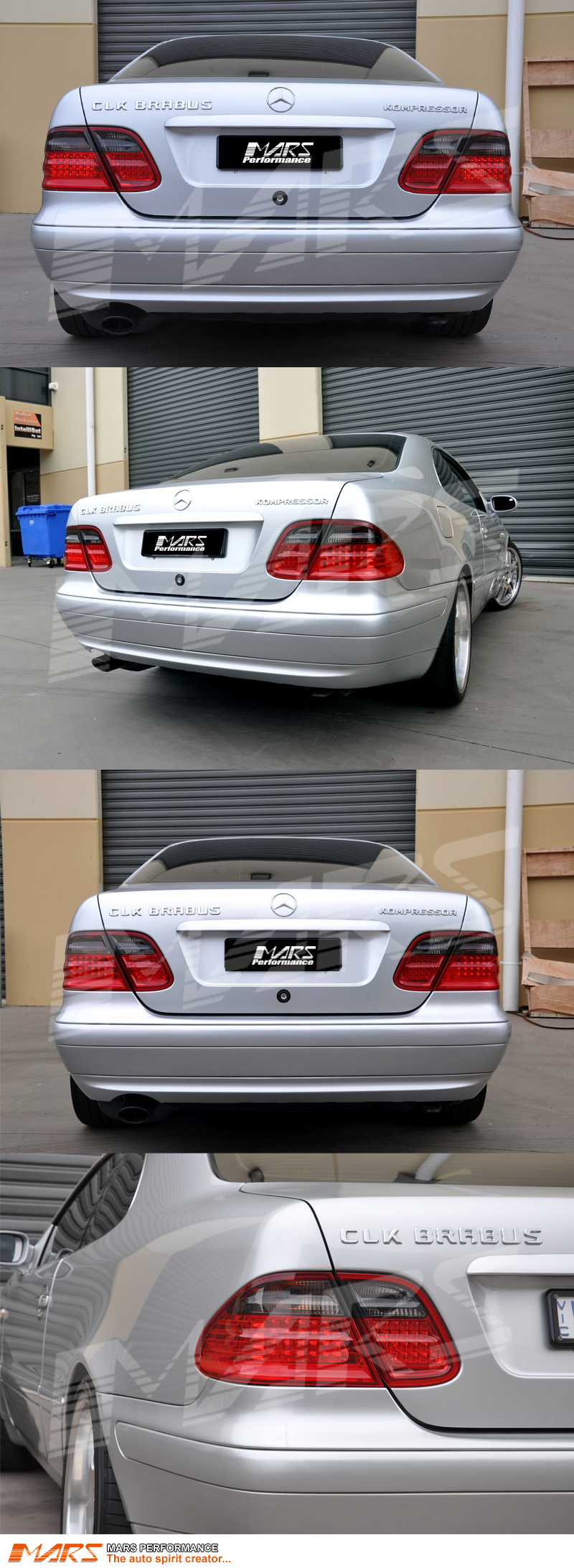 Mercedes Tail Red C208Mars Lights Smoked Led Clk Benz W208 For roeCxdB