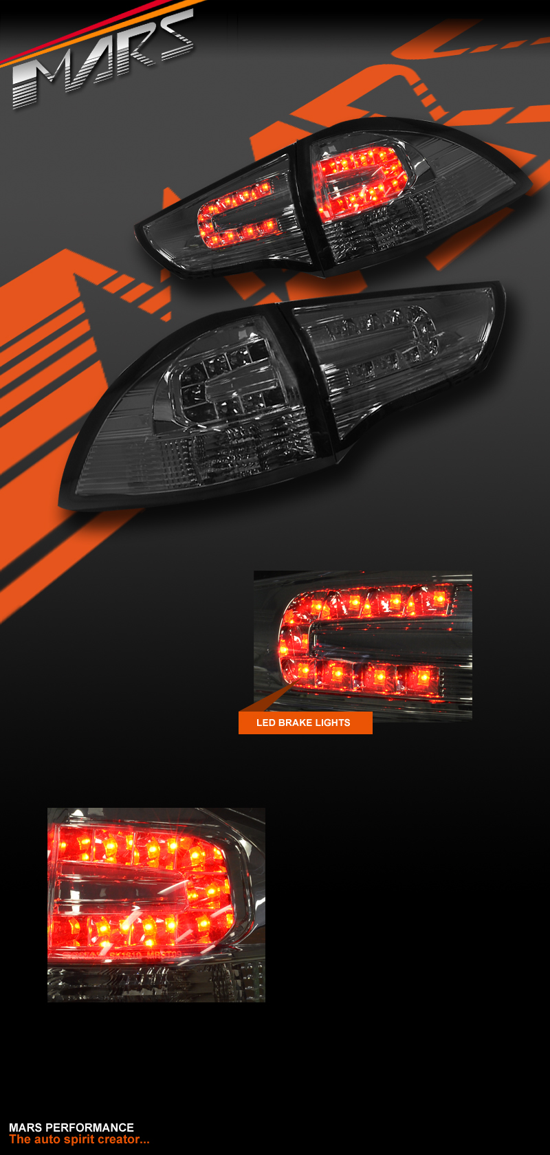 smoked black led tail lights mitsubishi challenger. Black Bedroom Furniture Sets. Home Design Ideas