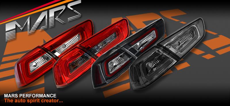Varis Full Smoked Led Tail Lights For Mitsubishi Lancer Cj