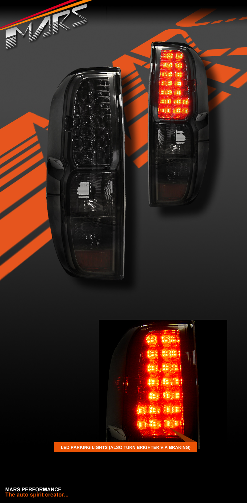 Smoked Black Led Tail Lights For Nissan Navara Amp Frontier