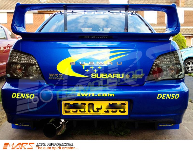 Jdm Smoked Led Tail Lights For Subaru Impreza Gd 03 07 4dr