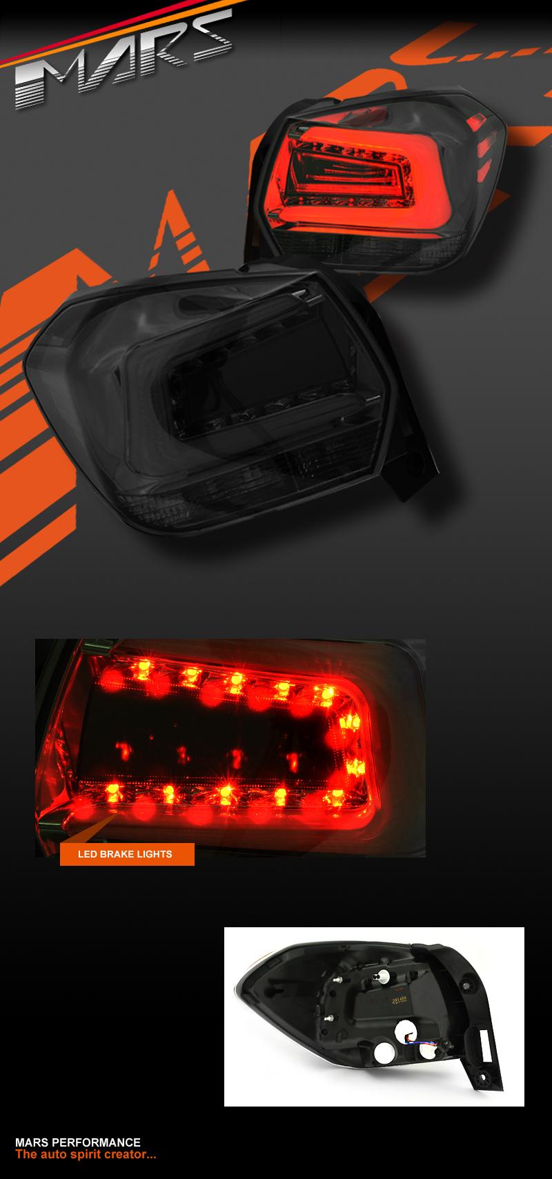 Jdm Smoked Black Led Tail Lights For Subaru Xv G4 X 12 15