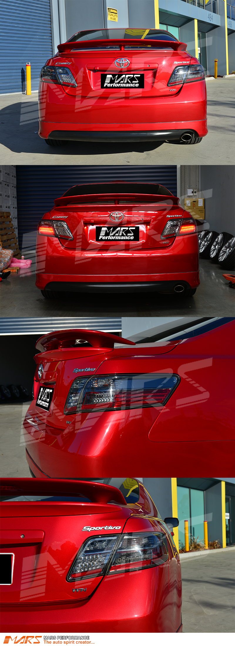 Full Smoked Led Tail Lights For Toyota Camry 06 09 Sedan