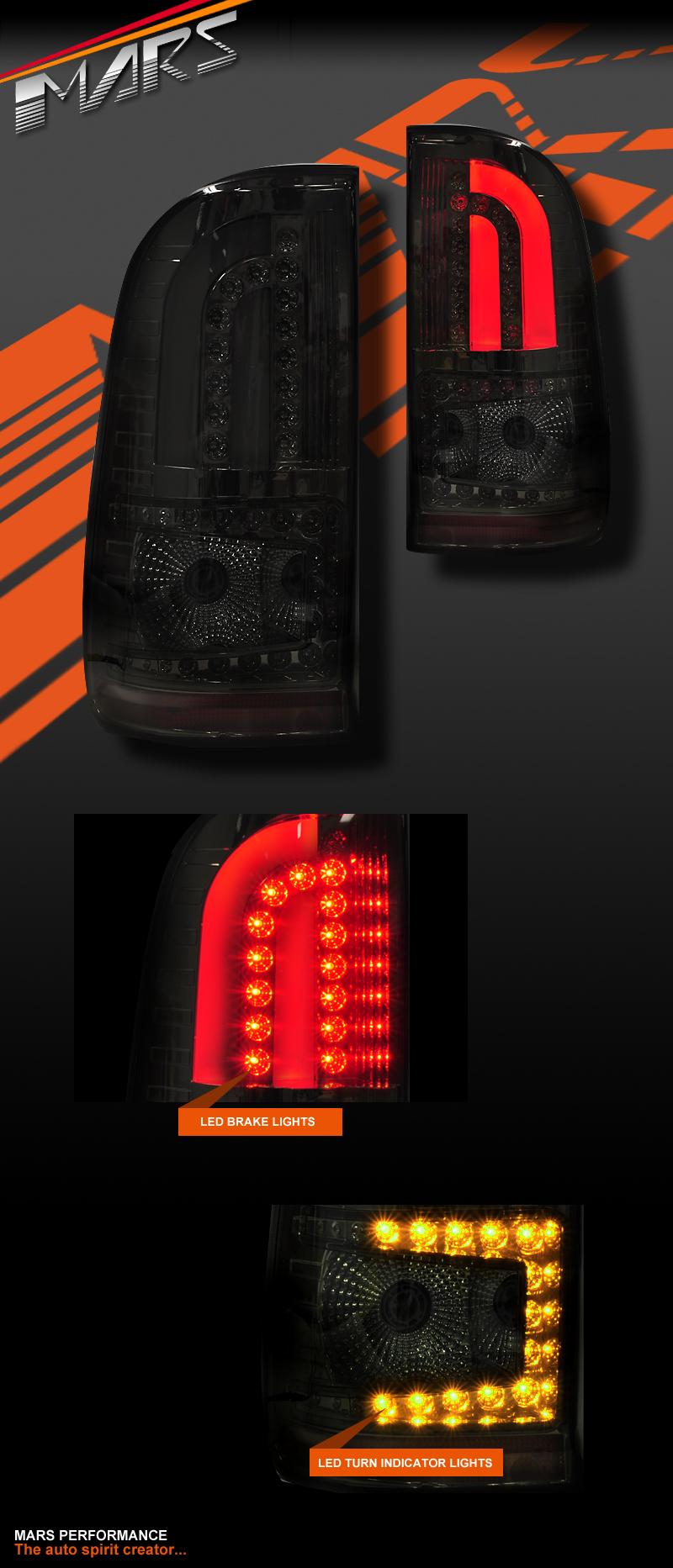 Smoked 3d Led Tail Lights For Toyota Hilux Vigo 04 15 Ute Mini Truck Pick Up Ebay