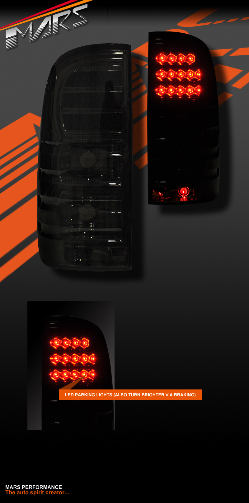 Smoked Black Led Tail Lights Toyota Hilux Ute 04 15 Tail