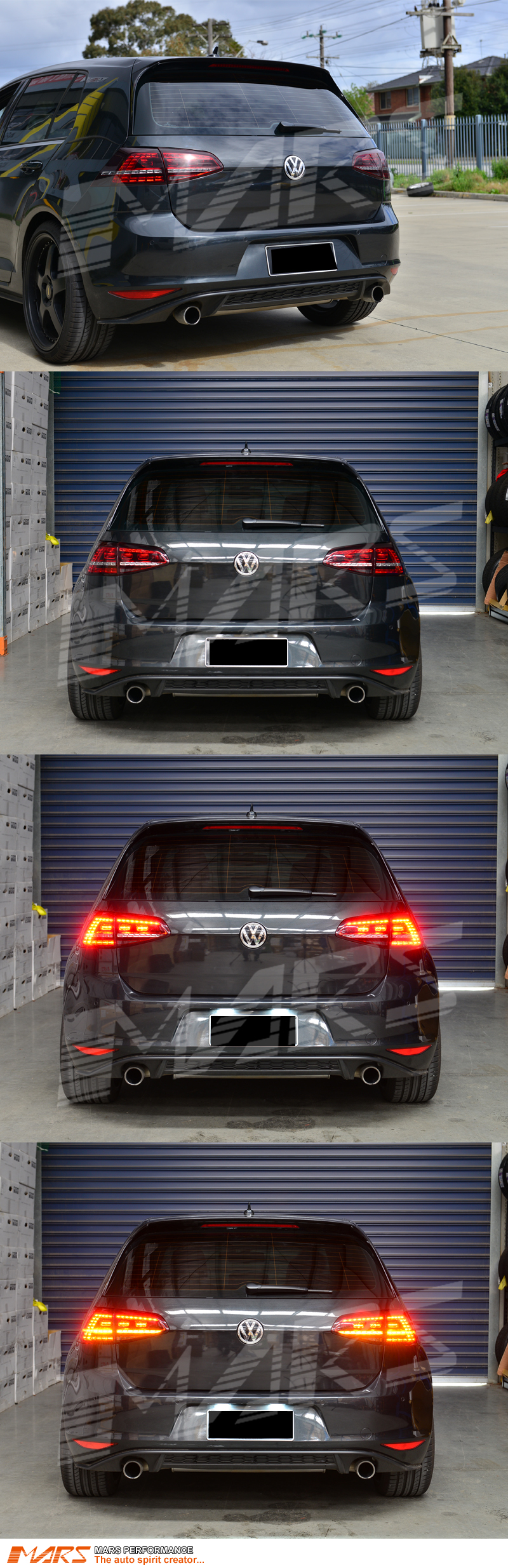 smoked red r style led tail lights for volkswagen vw golf. Black Bedroom Furniture Sets. Home Design Ideas