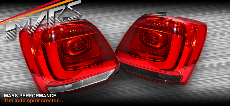 Clear Red 3d Led Stripe Bar Tail Lights For Vw Volkswagen