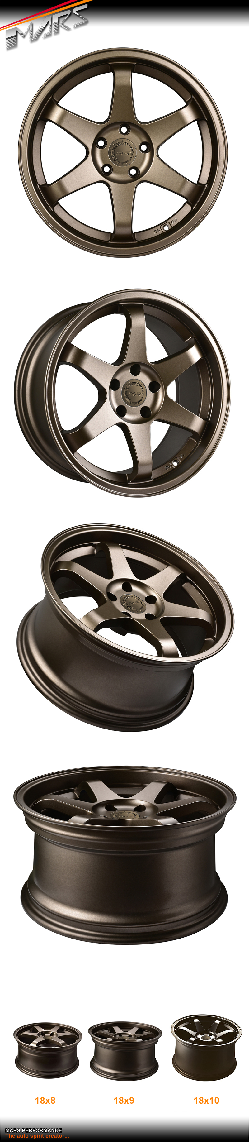 Mars mp inch bronze alloy wheels rims e
