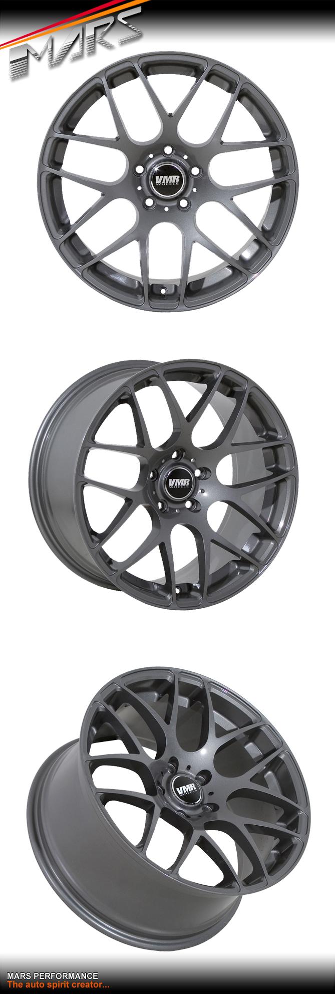 Vmr V710 4 X 20 Inch Gun Metal Stag Concave Alloy Wheels
