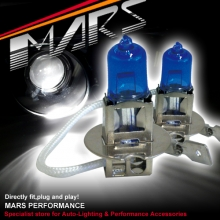 MARS 5800K Super White 100W H3 Halogen Car Head Lights Bulbs