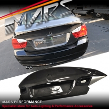 CSL M3 Style Real Carbon Trunk Boots for BMW 3-Series E90 Sedan 05-08 Pre LCI