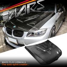 Real Carbon Fiber M3 OEM Style Bonnet hood for BMW 3 Series E90 E91 09-12 LCI Facelift