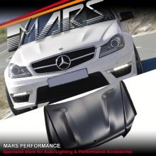 C63 AMG OEM Style Aluminium Bonnet Hood for Mecedes-Benz C-Class W204 C204 11-14