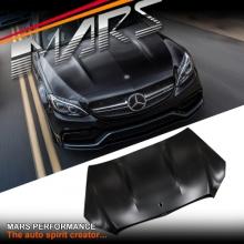 C63 AMG Style Aluminium Bonnet Hood for Mecedes-Benz C-Class W205 Sedan C205 Coupe & S205 Wagon