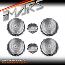 Chrome Silver Twist Style Speaker & Tweeter Covers for Mercedes-Benz C-Class W205 C205 S205
