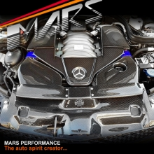 Real Carbon Fiber Air Intake Cover for Mercedes Benz AMG C63 W204 C204