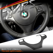 Carbon Fibre Steering Wheel Cover for BMW E90 E91 05-08 Pre LCI Update models