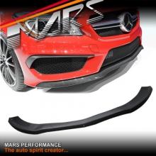 CLA45 Style Carbon Fibre Front bumper bar Lip Spoiler cover for Mercedes Benz CLA-Class C117 X117