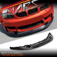BMW E82 1M Revozport Style Real Carbon Fiber Front Bumper Bar Lip Diffuser