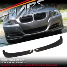 BMW Performance Style Carbon Fibre Front Bumper Splitter Lips for E90 E91 LCI 09-12