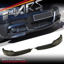 BMW Performance Style Carbon Fibre Front Bumper Splitter Lips for E90 E91 M Tech LCI 09-12