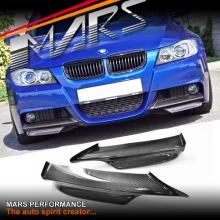 Carbon Fibre Front Bumper Splitter Lips for E90 E91 M Tech Sports 05-08