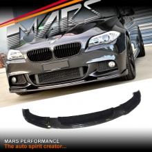 Carbon Fiber Hamann Style Front Bumper Lip Spoiler for BMW F10 M Sports 10-13
