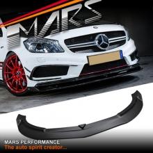 A45 Revozport Style Front Carbon Fibre Lip Spoiler for Mercedes-Benz A Class W176 Hatch