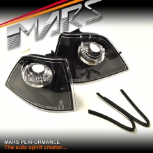 Black Front Bumper Bar Turn Signal Indicator Corner lights for BMW E36 3-Series 2 doors Coupe