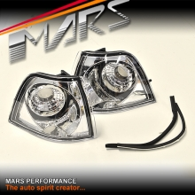 Chrome Clear Front Bumper Bar turn Signal Indicator Corner lights for BMW E36 3-Series 4 doors Sedan