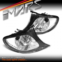 Black Corner turn signal indicator lights for BMW E46 Sedan 02-04