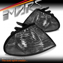 Smoked Front Corner turn signal indicator lights for BMW E46 98-01 Pre LCI Sedan & Wagon