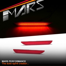 MARS RED LED Rear Bumper Bar Side marker lights for Ford Mustang FM 2015-2017