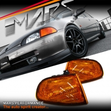 JDM Amber Corner Indicator Turn Signel Lights for Honda CIVIC EG 3D 92-95