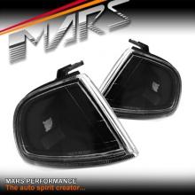 JDM Black Front Side Corner Lamps parker lights for Honda Prelude 92-96