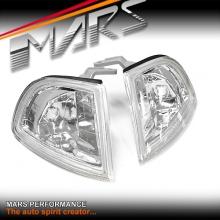 Crystal Clear Front Side Corner Lamps parker lights for Honda Prelude 92-96