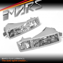 Crystal Clear Front Bumper Bar Turn Signal Indicator lights for Honda Prelude 97-01