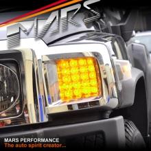 LED Front Bumper Bar Turn Signal Indicator lights for Hummer H3