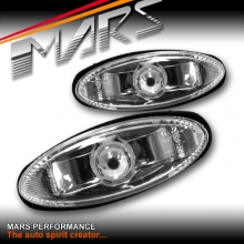 Clear JDM Front Bumper bar Side Turn Signal Indicator lights for MAZDA RX-7 97-02 FD3S