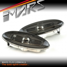 Smoked JDM Front Bumper bar Side Turn Signal Indicator lights for MAZDA RX-7 97-02 FD3S