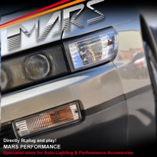 Crystal Side Corner Parker & Bumper Turn Signal Indicator Lights for Nissan Silvia S13