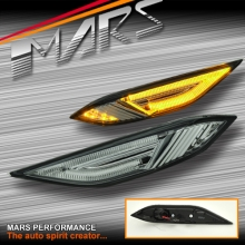 Full Smoked LED Side Indicator Turn Signal Marker for Porsche Cayenne 958 92A 10-15