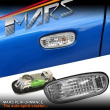 Crystal Side Fender Turn Signal Indicator Lights for Subaru Impreza 93-00 GC8 GF8