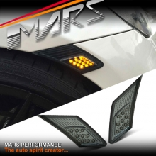 VALENTI Smoked LED Side Indicator Turn Signel marker Lights for Toyota 86 GT GTS & Subaru BRZ 86