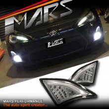 Crystal Clear 3D LED Front Bumper Indicator Turn Signal Marker lights for Toyota 86 GT & GTS 12-16